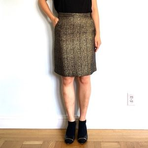 Tucker for Target Gold Brocade Skirt
